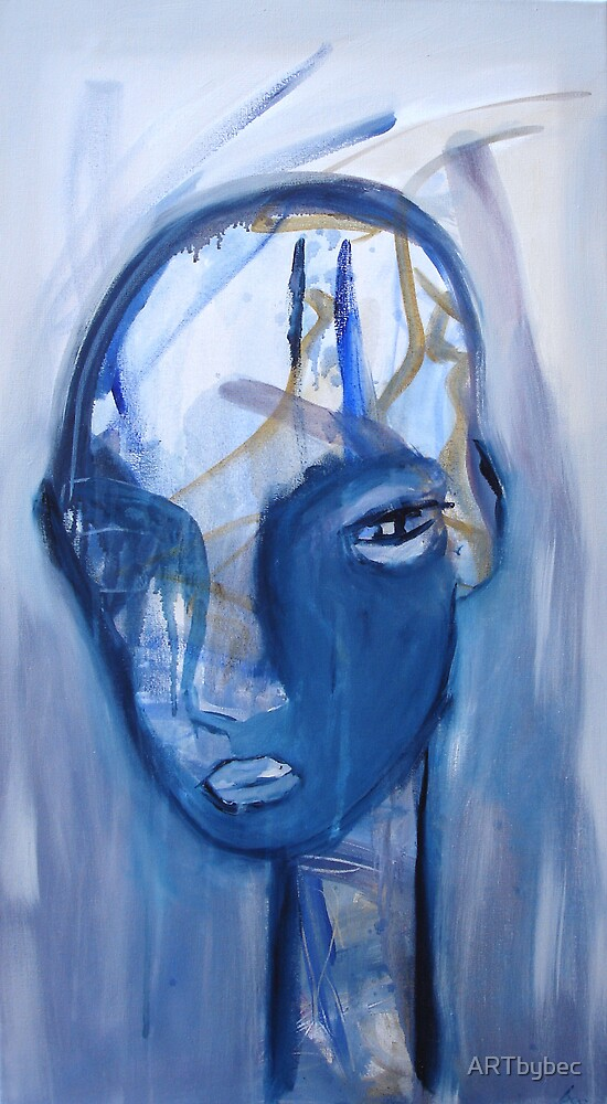 "ART by bec ""Moving Past Blue"" by ARTbybec"