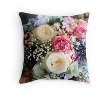 Wedding Bouquet. Throw Pillow