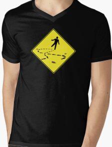 Slippery When Drunk Mens V-Neck T-Shirt