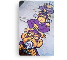 Corporate greed- see no evil, hear no evil, speak no evil! Canvas Print