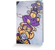 Corporate greed- see no evil, hear no evil, speak no evil! Greeting Card