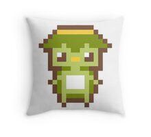 Pixel Art Japanese Kappa Throw Pillow