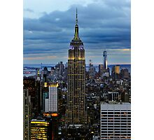 Empire State Building (Dusk) Photographic Print