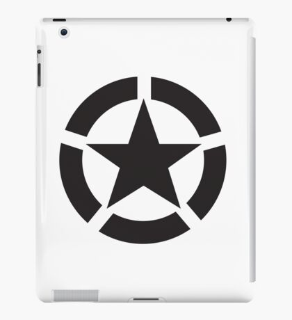 Allied Star (Black) iPad Case/Skin
