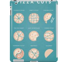 Vintage Style Cuts of Pizza Illustration iPad Case/Skin