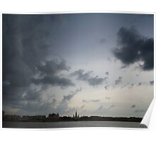 Clouds Over St. Louis Cathedral Poster
