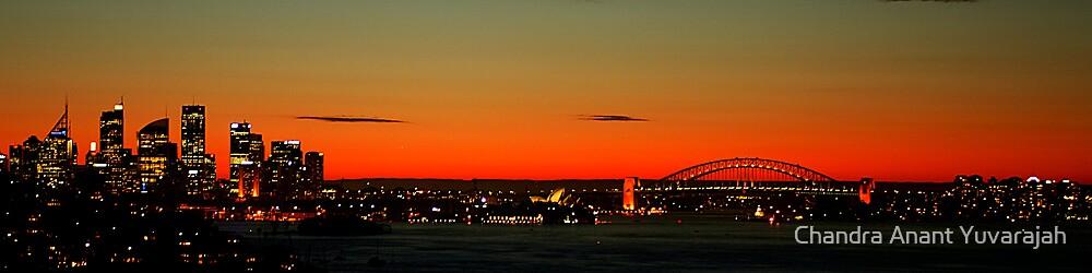 Sydney skyline from Rose Bay by Chandra Anant Yuvarajah