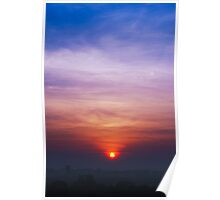 An Indian Winter Sunrise Poster