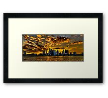 Sunset over Boston Harbor Framed Print