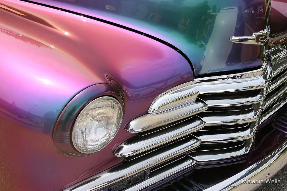 Rainbow Chevy Truck by Melanie Wells