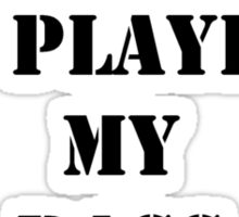 Right Now, I'd Rather Be Playing My Bass Guitar - Black Text Sticker