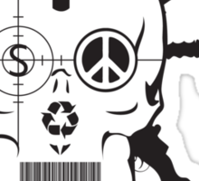 Doom Skull, Beware! Sticker
