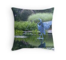 aquatic pond Throw Pillow