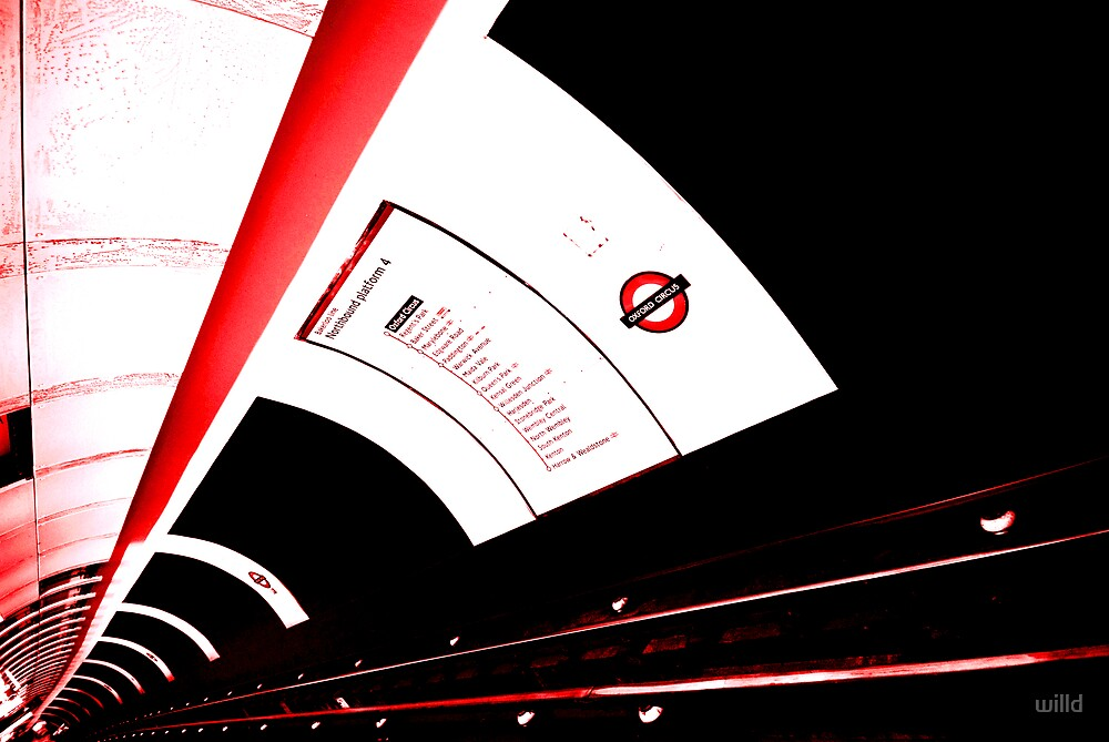london tube by willd