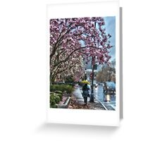 First Spring Rain Greeting Card
