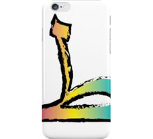 Brush Stroke-Arabic Letter ṭā' ◆ ط iPhone Case/Skin