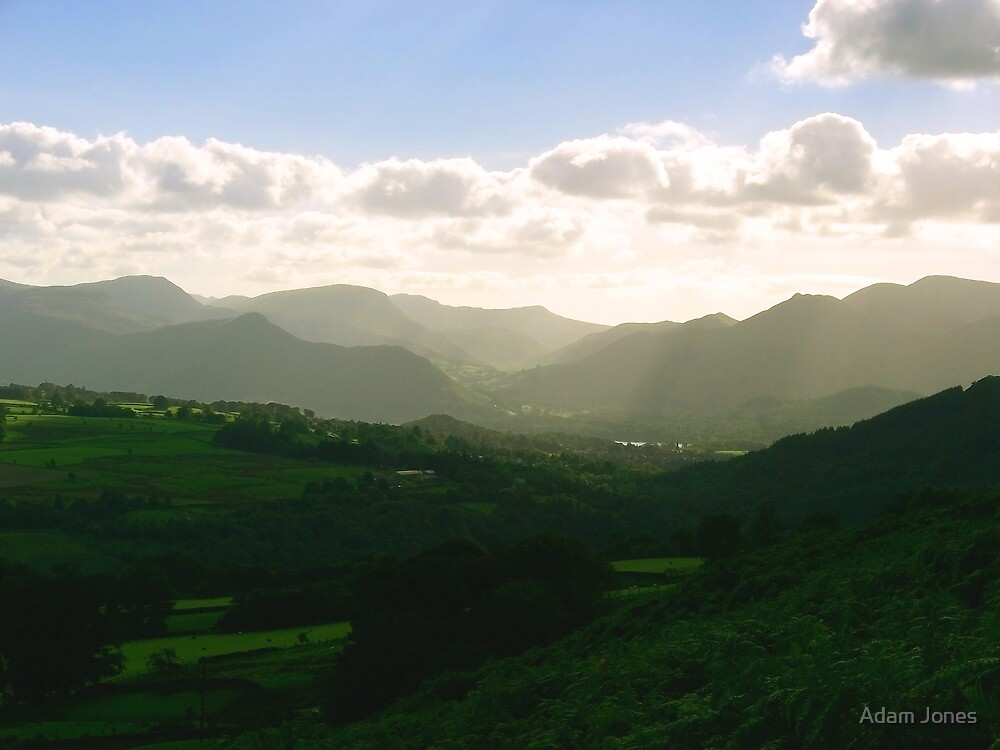 View Across The Mountains by Adam Jones