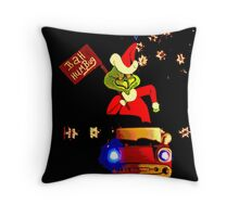 Happy Grinchmas Throw Pillow