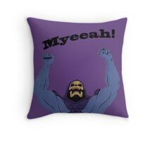 All Hail Skeletor Throw Pillow