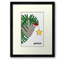 Peace Sloth Framed Print
