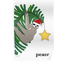 Peace Sloth Poster
