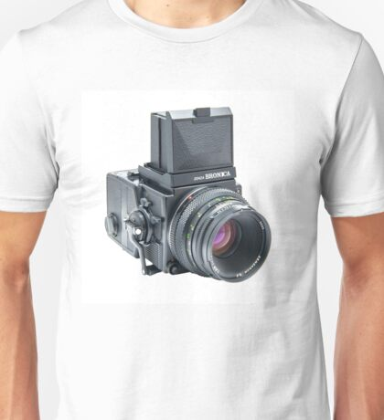 Zenza Bronica ETRSi Medium Format Film Camera & 75mm Lens Vintage / Retro / Analogue photography / Old School Pro! Unisex T-Shirt