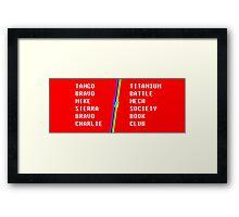 Phonetic Alphabet Framed Print