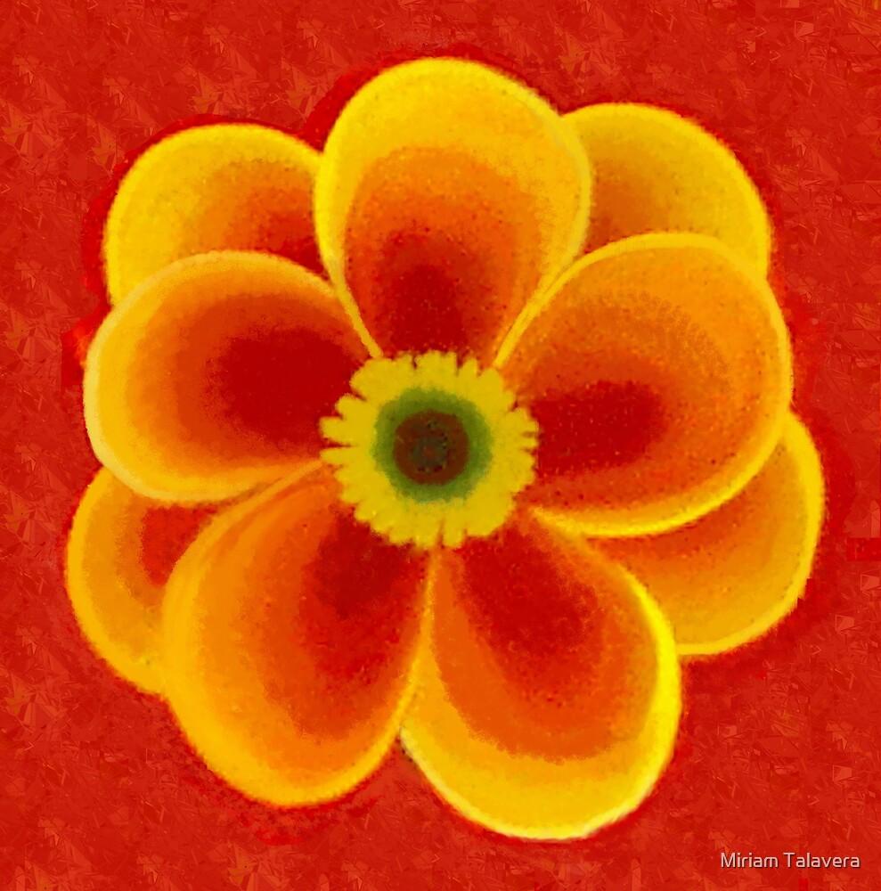 Yellow Red Flower by Miriam Talavera