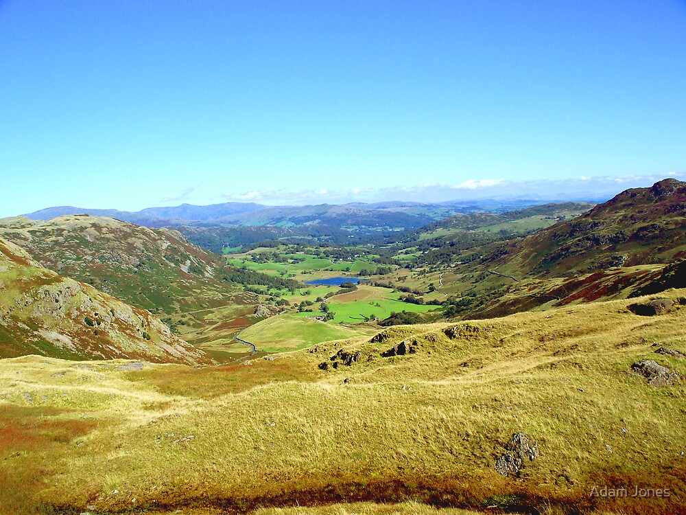 Looking Down From Wrynose Pass by Adam Jones