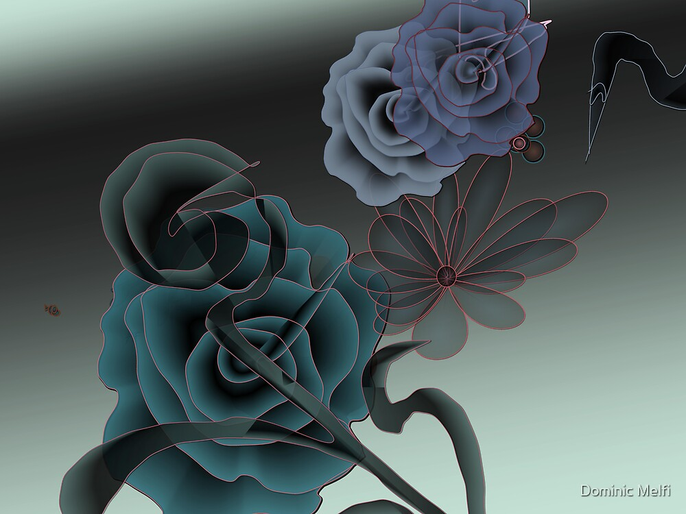 WALL ART DARK ROSE by Dominic Melfi