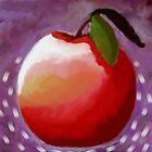 Apple Watercolor by Miriam Talavera
