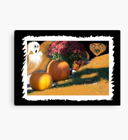 Ghostly Fears Hallowed Eve Canvas Print