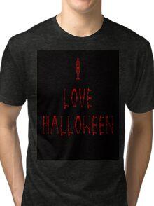 I Love Halloween Tri-blend T-Shirt