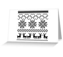 Winter time white Greeting Card