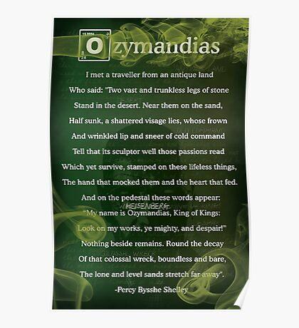Breaking Bad - Ozymandias Poem Poster