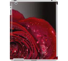Red Rose macro 2 iPad Case/Skin