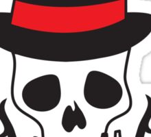 Skull with thorns and a bowler hat Sticker