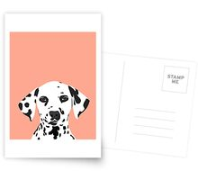 Casey - Dalmation art print phone case decor for pet lover and dog lover Postcards