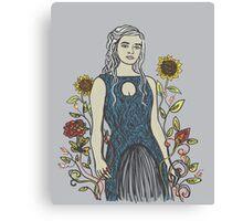 Floral Daenerys  Canvas Print