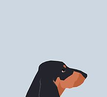 Dakota - Dachshund phone case fun and bright for pet lovers and gift for dog people by PetFriendly