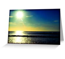 Surfing at sunrise Greeting Card