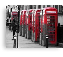 The Phonebooths Canvas Print