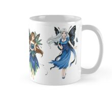 Cute colorful little anime fairies with butterfly wings mug  Mug