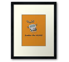 Scatter the nuns Framed Print