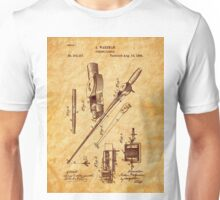 1884 Fishing Tackle Patent Art Unisex T-Shirt