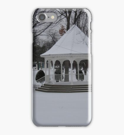 WINTER SNOW AND A BEAUTIFUL GAZEBO   iPhone Case/Skin