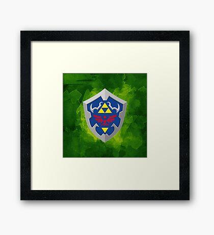 Hylain Shield OoT Framed Print