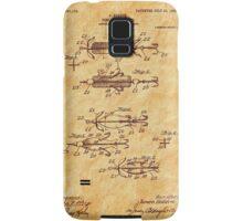 Heddon 1907 Fishing Lure Patent Art Samsung Galaxy Case/Skin