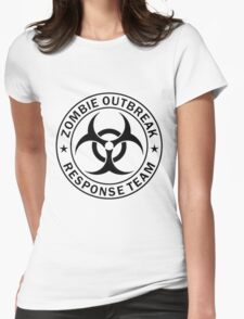 Zombie Response Team Womens Fitted T-Shirt