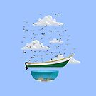 Boat and Birds by erdavid